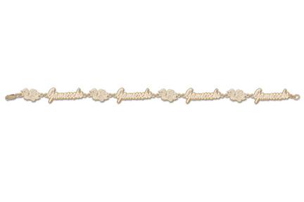 South Carolina Gamecocks Bird and Gamecocks 7 12 Bracelet 14KT Gold Jewelry