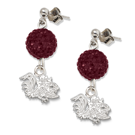 South Carolina Gamecocks Ovation Crystal Earrings