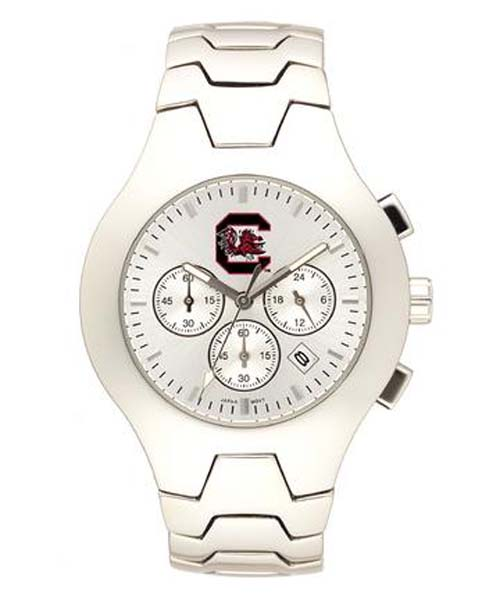 South Carolina Gamecocks NCAA Men's Hall of Fame Watch with Stainless Steel Bracelet
