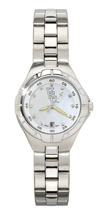 "South Carolina Gamecocks ""C Gamecock"" Women's Pro II Watch with Mother of Pearl Dial and Stainless Steel Brace"
