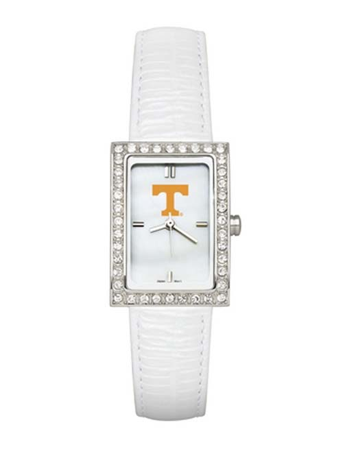 Tennessee Volunteers Women's Allure Watch with White Leather Strap