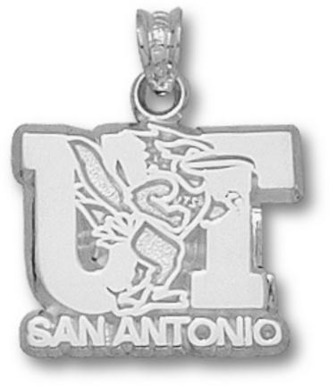 Texas (San Antonio) Roadrunners UT San Antonio Logo Pendant - Sterling Silve..
