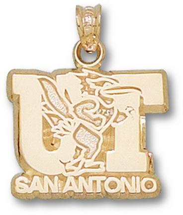 Texas (San Antonio) Roadrunners UT San Antonio Logo Pendant - 14KT Gold Jewe..