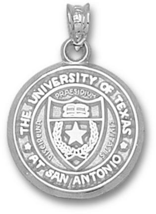 "Texas (San Antonio) Roadrunners """"Seal"""" Pendant - Sterling Silver Jewelry"" LGA-UTS003-S"