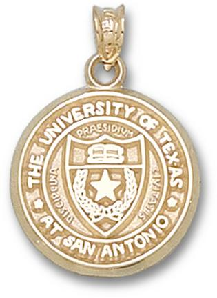 "Texas (San Antonio) Roadrunners """"Seal"""" Pendant - 14KT Gold Jewelry"" LGA-UTS003-G"