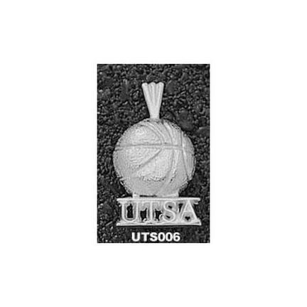 "Texas (San Antonio) Roadrunners """"UTSA Basketball"""" Pendant - Sterling Silver Jewelry"" LGA-UTS006-S"
