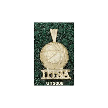 "Texas (San Antonio) Roadrunners """"UTSA Basketball"""" Pendant - 14KT Gold Jewelry"" LGA-UTS006-G"