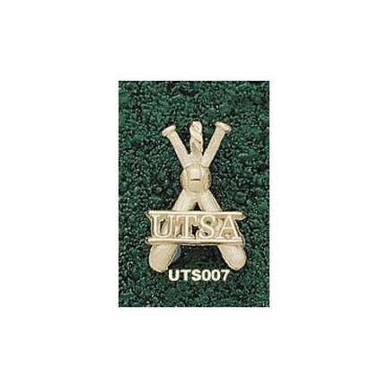 "Texas (San Antonio) Roadrunners """"UTSA Baseball Bats"""" Pendant - 14KT Gold Jewelry"" LGA-UTS007-G"