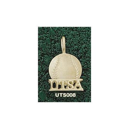 "Texas (San Antonio) Roadrunners """"UTSA Softball"""" Pendant - 14KT Gold Jewelry"" LGA-UTS008-G"