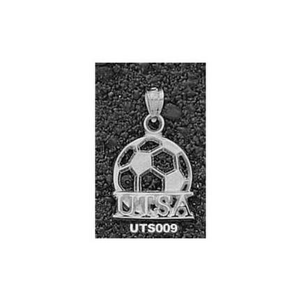 "Texas (San Antonio) Roadrunners """"UTSA Soccer Ball"""" Pendant - Sterling Silver Jewelry"" LGA-UTS009-S"