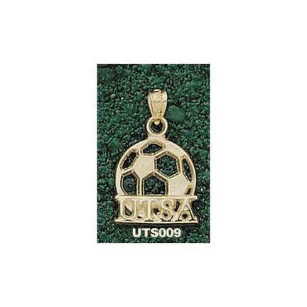 "Texas (San Antonio) Roadrunners """"UTSA Soccer Ball"""" Pendant - 14KT Gold Jewelry"" LGA-UTS009-G"