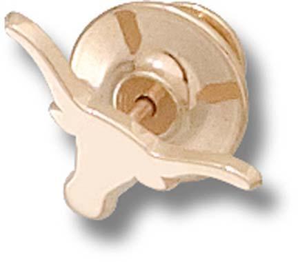 Texas Longhorns Solid Longhorn 38 Lapel Pin  Sterling Silver Jewelry