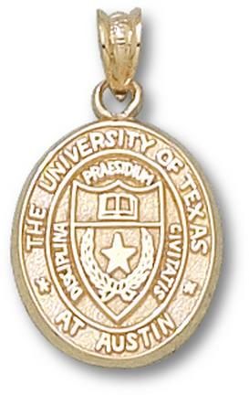 """Texas Longhorns """"Seal"""" Oval 5/8"""" Lapel Pin - Sterling Silver Jewelry"""