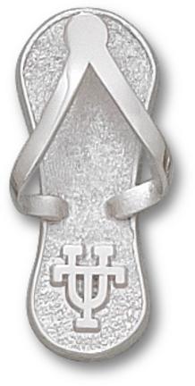 Texas Longhorns 1 Ut Flip Flop Pendant Sterling Silver Jewelry