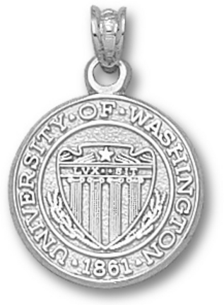 Washington Huskies Seal Pendant Sterling Silver Jewelry