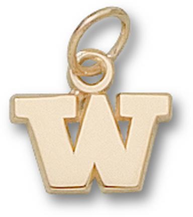 "Washington Huskies ""W"" 1/4"" Lapel Pin - Sterling Silver Jewelry"