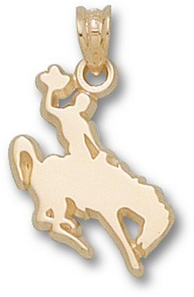 "Wyoming Cowboys ""Cowboy on Horse"" Lapel Pin - 10KT Gold Jewelry"