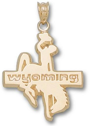 "Wyoming Cowboys ""Wyoming Cowboy"" 7/8"" Lapel Pin - 14KT Gold Jewelry"