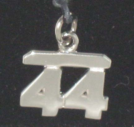 8MM 5/16 Double Number Charm - Sterling Silver Jewelry