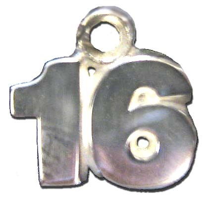 8 mm 5/16 Double Number (No Bar) Charm - Sterling Silver Jewelry
