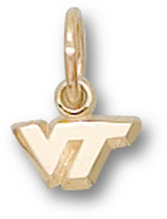 "Virginia Tech Hokies ""VT"" 1/4"" Lapel Pin - Sterling Silver Jewelry"
