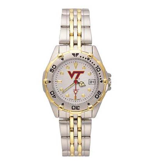 """Virginia Tech Hokies """"VT"""" All Star Watch with Stainless Steel Band - Women's"""