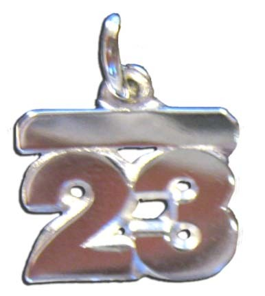 5MM 1/4 Double Number Charm - Sterling Silver Jewelry