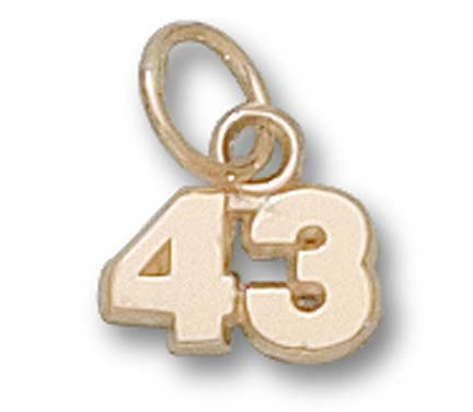5 mm 1/4 Double Number (No Bar) Charm - 14KT Gold Jewelry