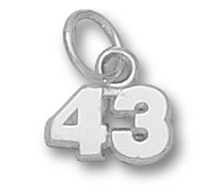 5 mm 1/4 Double Number (No Bar) Charm - Sterling Silver Jewelry