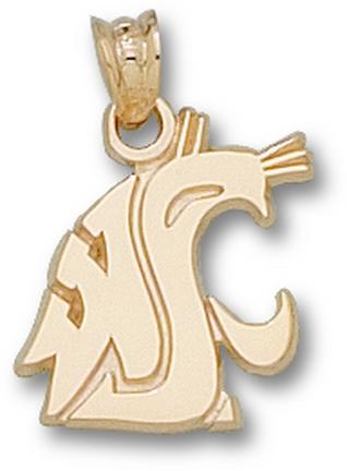 "Washington State Cougars ""WSU Cougar Head"" 9/16"" Lapel Pin - Sterling Silver Jewelry"