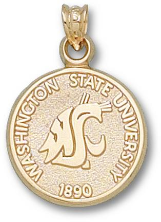 Washington State Cougars Seal Lapel Pin  Sterling Silver Jewelry