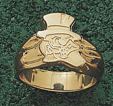 "Wake Forest Demon Deacons """"Deacon"""" Men's Ring Size 10 - 10KT Gold Jewelry"" LGA-WFU002GR-10K"