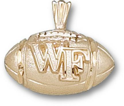 "Wake Forest Demon Deacons ""WF Football"" Lapel Pin - 14KT Gold Jewelry"