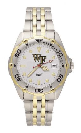 """Wake Forest Demon Deacons """"WF"""" All Star Watch with Stainless Steel Band - Men's"""