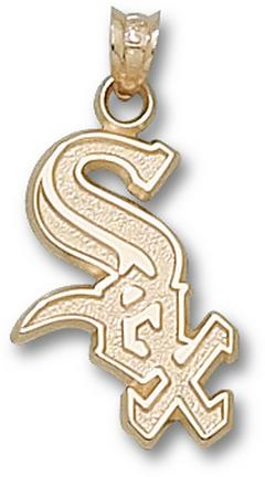 "Chicago White Sox ""Sox"" 3/4"" Border Lapel Pin - 10KT Gold Jewelry"