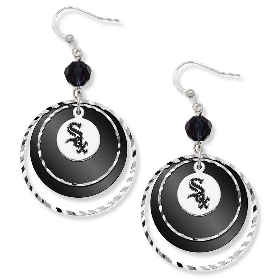 Chicago White Sox Game Day Earrings LGA-WHI068ER-CR