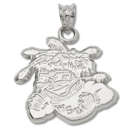 Wichita State Shockers Mascot Pendant - Sterling Silver Jewelry