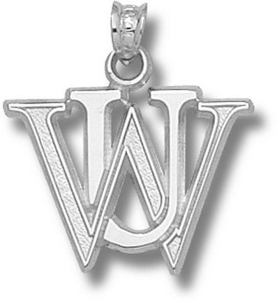 "Washington (St. Louis) Bears """"WU"""" Pendant - Sterling Silver Jewelry"" LGA-WUS001-S"