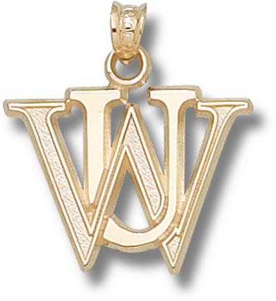 "Washington (St. Louis) Bears """"WU"""" Pendant - 14KT Gold Jewelry"" LGA-WUS001-G"