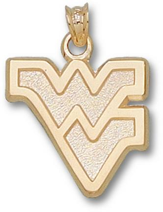 "West Virginia Mountaineers ""WV"" 5/8"" Outlined Lapel Pin - 10KT Gold Jewelry"