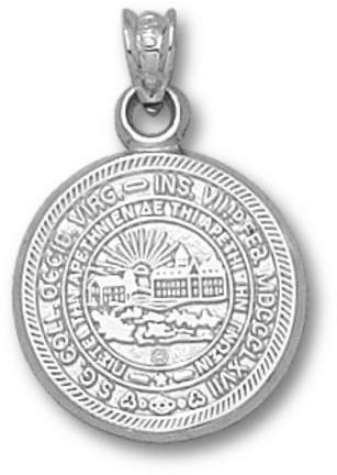 """West Virginia Mountaineers """"Seal"""" Pendant - Sterling Silver Jewelry"""