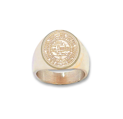 West Virginia Mountaineers Seal Mens Ring Size 10 12  14KT Gold Jewelry