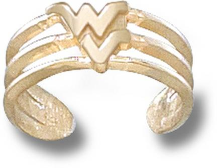 "West Virginia Mountaineers ""WV"" Toe Ring - 10KT Gold Jewelry"