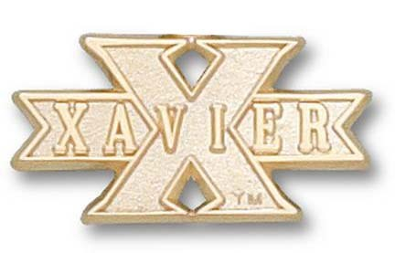 "Xavier Musketeers ""Xavier in X"" Lapel Pin - 10KT Gold Jewelry"
