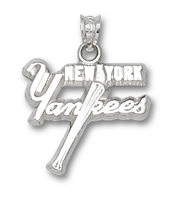 "New York Yankees ""Yankees with Bat"" Pendant - Sterling Silver Jewelry"