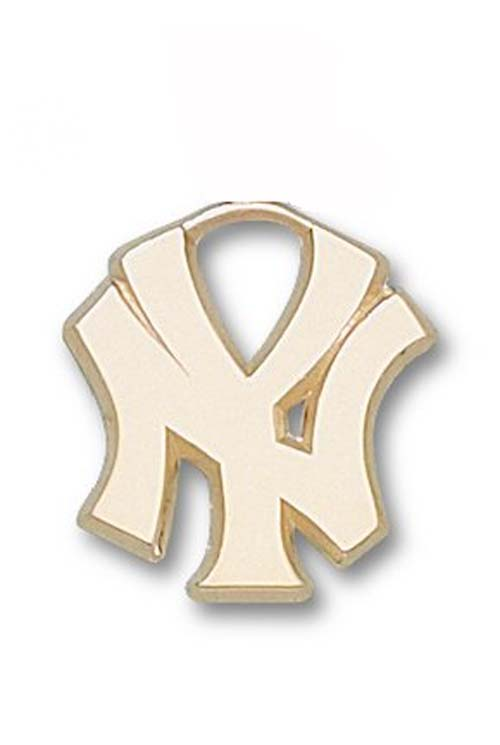 "New York Yankees ""NY"" 3/4"" Lapel Pin - 10KT Gold Jewelry"