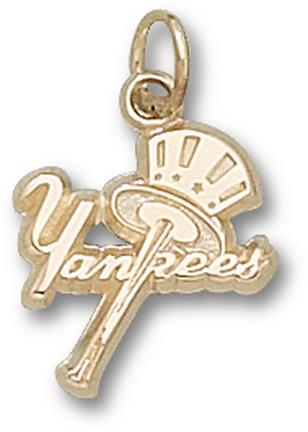 """New York Yankees """"Yankees with Bat and Hat"""" Lapel Pin - Sterling Silver Jewelry"""