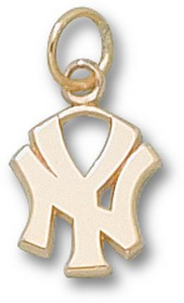 """New York Yankees """"NY"""" 7/16"""" Lapel Pin - 10KT Gold Jewelry"""