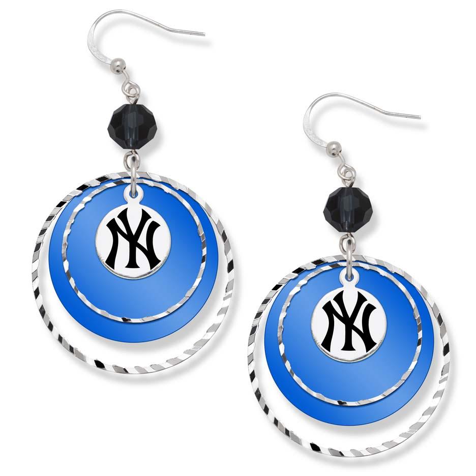 New York Yankees Game Day Earrings LGA-YAN068ER-CR