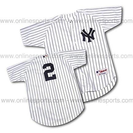 Derek Jeter New York Yankees #2 Authentic Majestic MLB Baseball Jersey (Home White) MAJ-JETERJERS-H